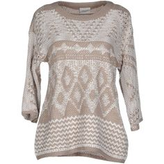 Vero Moda Jumper ($35) ❤ liked on Polyvore featuring tops, sweaters, dove grey, gray top, grey top, short sleeve tops, gray short sleeve sweater y lightweight sweaters