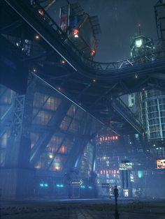 DET :: The Art Of Gaming Rpg Cyberpunk, Cyberpunk Aesthetic, City Aesthetic, Futuristic City, Futuristic Architecture, Environment Concept Art, Environment Design, Modern City, Modern Loft