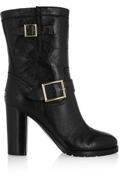 Jimmy Choo - Dart Buckled Leather Biker Boots - SALE20 at Checkout for an extra 20% off