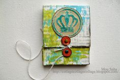 Created by Mou Saha using die and embosslit from Where Women Cook collection for Sizzix