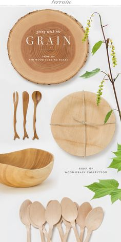 Go with the Grain: Wood grain boards and more at Terrain.