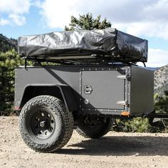 Truck Bed Trailer, Camping Trailer Diy, Kayak Trailer, Truck Flatbeds, Off Road Camper Trailer, Truck Tent, Trailer Plans, Trailer Build, Truck Camping