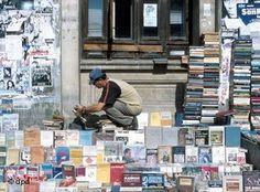 Bucharest street booksellers (via www. First Novel, Bucharest, Spelling, Novels, Baseball Cards, Street, World, Literatura, The World