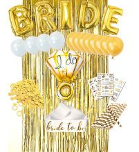 Bachelorette & bridal shower - Xiamen Umiss Manufacturing and Trading Co. Paper Party Decorations, Engagement Party Decorations, Girl Baby Shower Decorations, Bachelorette Party Decorations, Engagement Parties, Latex Balloons, Foil Balloons, Bride To Be Sash, Gold Bridal Showers