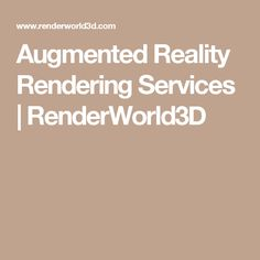 Augmented Reality Rendering Services | RenderWorld3D
