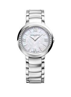 Promesse Stainless Steel Diamond Watch