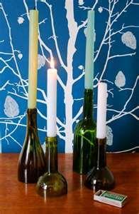 Wine bottles & candles