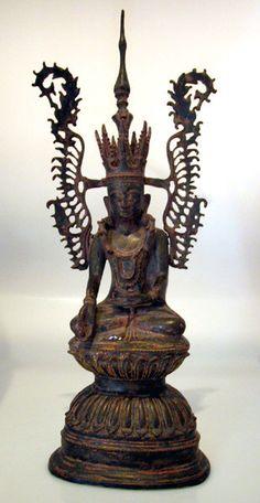 Shan Bronze Sculpture of Buddha as the Subduer of Jambhupati,     Myanmar     Origin: Myanmar Circa: 18 th Century AD