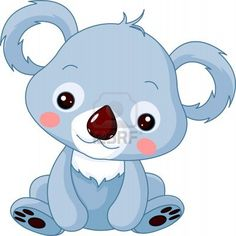Fun zoo. Illustration of cute Koala Bear Stock Photo