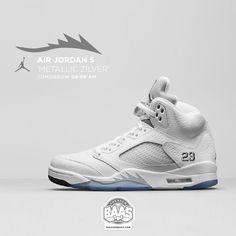 finest selection 85c18 580bf  jumpman23  airjordan  jordan5  jordan5retro  metallicsilver  sneakerbaas  baasbovenbaas  Air Jordan