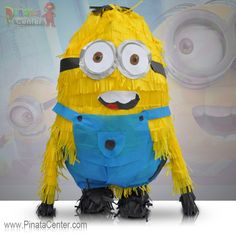 """Bello! Turn any birthday party into a grand event with this Minion pinata. It's great for a Despicable Me themed party or could be the center piece of any party! Fill it up with tons of candy or """"papoi"""" (toys) or any other party favor of your choosing. You'll be having everyone saying they are """"me want banana"""" for more fun times!"""