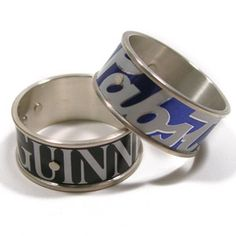 beer can rings..what? guinness for kenn and pbr for me…sounds about right.