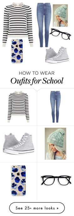 """School Look "" by shavasemstewart on Polyvore featuring Oasis, Paige Denim, Converse and Sonix"
