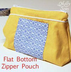 Flat Bottom Zipper Pouch