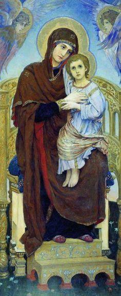 Viktor Vasnetsov - Mother of God with the Child 1901