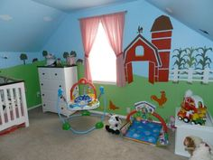 girls farm themed room | Farm Themed Nursery Decor