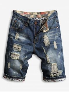 OFF] Solid Color Multi Pockets Metal Button Embroidery Shorts Harem Shorts, Denim Shorts, New Mens Fashion, Fashion Site, Style Fashion, Winter Fashion, Fashion Trends, Mens Attire, Mens Suits