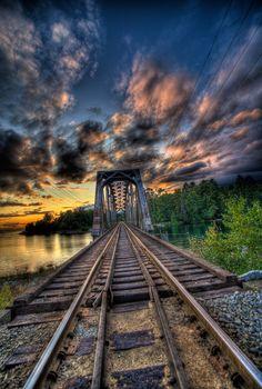 Railroad Sunset.