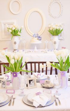 Lavender First Communion Party via Project Nursery (with a few adaptations this would make a pretty baby shower or even bridal shower)
