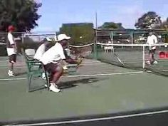 Tennis Drills: Volleys--the Chair Drill - YouTube