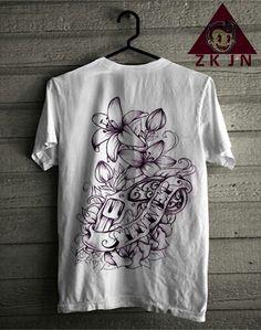 Zack Jordan T-shirt. PINK Flower
