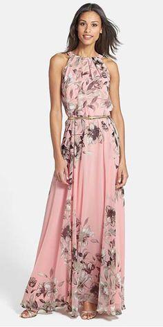 Mother of the Bride Groom Dress Ideas | Boho Floral Maxi Dress