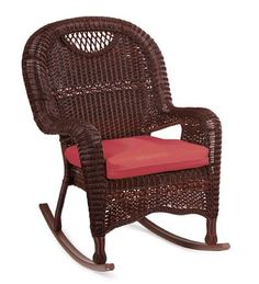 Prospect Hill Outdoor Resin Wicker Rocking Chair, in Chocolate - http ...