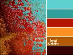 Bedroom Vintage Red Color Schemes 54 Ideas For 2019 Color Schemes Colour Palettes, Red Colour Palette, Bedroom Color Schemes, Bedroom Colors, Turquoise Color Palettes, Color Combos, Orange Palette, Orange Color Schemes, Bedroom Colour Palette