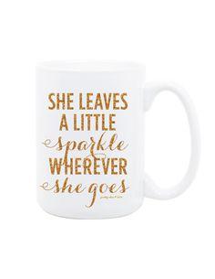She Leaves A Little Sparkle Mug by Pretty Chic SF