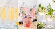 Cava - tips och recept Prosecco Cocktails, Sangria, Cocktail Recipes, Happy Easter, Alcoholic Drinks, Food And Drink, Table Decorations, Fruit, Glass
