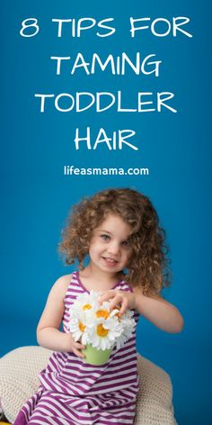 Toddler hair can be hard to manage. Love these tips, especially about bangs!