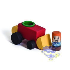 Trator Auto Blocos, Trator Auto Blocos Hergg Brinquedos, Hergg Brinquedos, Brinquedos Educativos
