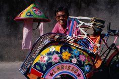 Portrait of a becak driver