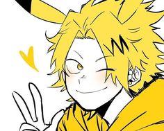 Tags: anime, boku no hero academia, kaminari denki Boku No Hero Academia, My Hero Academia Memes, Hero Academia Characters, My Hero Academia Manga, Anime Characters, Anime Manga, Anime Guys, Tatoo Manga, Uraraka Cosplay