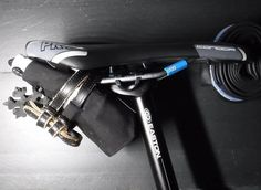 JET Roll - XX ( MTB / CX / Road / Gravel ) Shown properly wrapped and fastened to the saddle rails.
