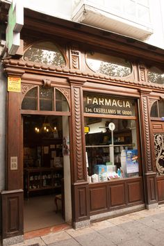 "As a Pharmacist,  no portfolio would be complete without a ""Pharmacy"".  But this entrance is part of the ""old"" city,  and very wonderful woodwork......what ART!!"