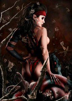 "Dark Fantasy Art Product   Demon of the Lake "" by Esau Murgs sexy dark ...   Sexy Fantasy Art"