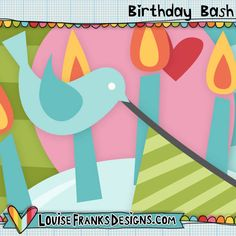 This is a set of 13 birthday themed clip art, sized approximately 4-6 inches and created at 300dpi. Note; this set is in png form. This clip art is available in both personal and commercial use options, as well as layered psd and vectorised eps formats. Don't forget to check out our Birthday Bash font too!