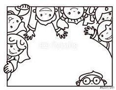 Image result for frame black and white kids