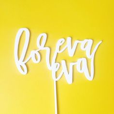 Foreva eva. Foreva Eva??? Outkast brings back good memories of young love. Now I get to put that lyrical genius to good use with this fun cake topper!