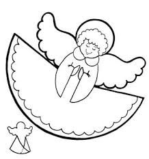 An Angel Visits Mary Coloring Page