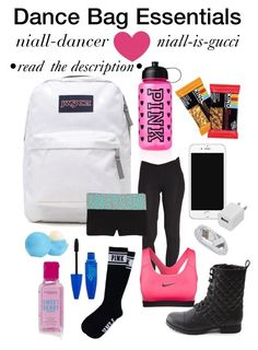 """""""Dance Bag Essentials"""" by niall-dancer ❤ liked on Polyvore"""