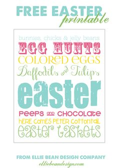 free printables | Easter Gift Tags and Free Printable | Ellie Bean Design