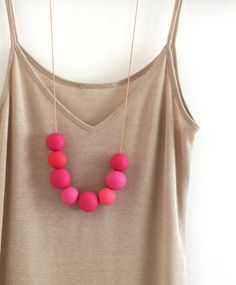 Polymer Clay necklace by notTuesday.
