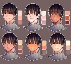 Skin tutorial series : skin color palette Disclaimer : I do not own this art. - Skin tutorial series : skin color palette Disclaimer : I do not own this art. This account is gall - Digital Painting Tutorials, Digital Art Tutorial, Art Tutorials, Drawing Tutorials, Drawing Ideas, Skin Color Palette, Palette Art, Skin Color Paint, Drawing Base