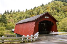 Photographing Oregon The Fisher School Covered Bridge or the Five Rivers Bridge in Lincoln County Oregon