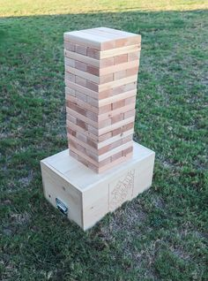 How to make an outdoor DIY giant Jenga game