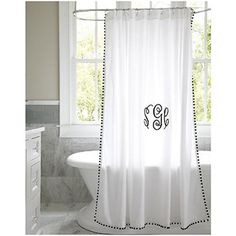 ballard designs audree pom pom shower curtain