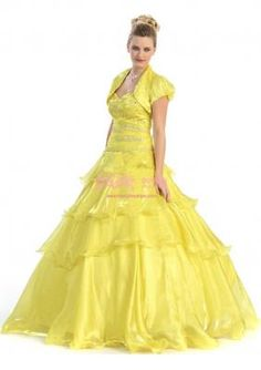 Tulle Sweetheart Ball Gown with Beading/Ruffles Quinceanera Dress