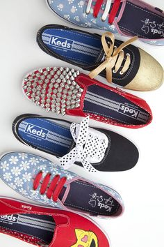 I like the 'saddle shoes' and polka dotted laces